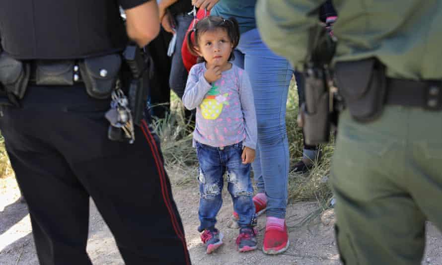 Asylum seekers are detained near McAllen, Texas, June 2018