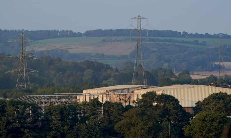 The National Grid site in Sellindge, Kent.