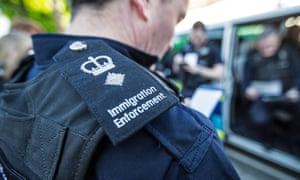 An immigration enforcement officer