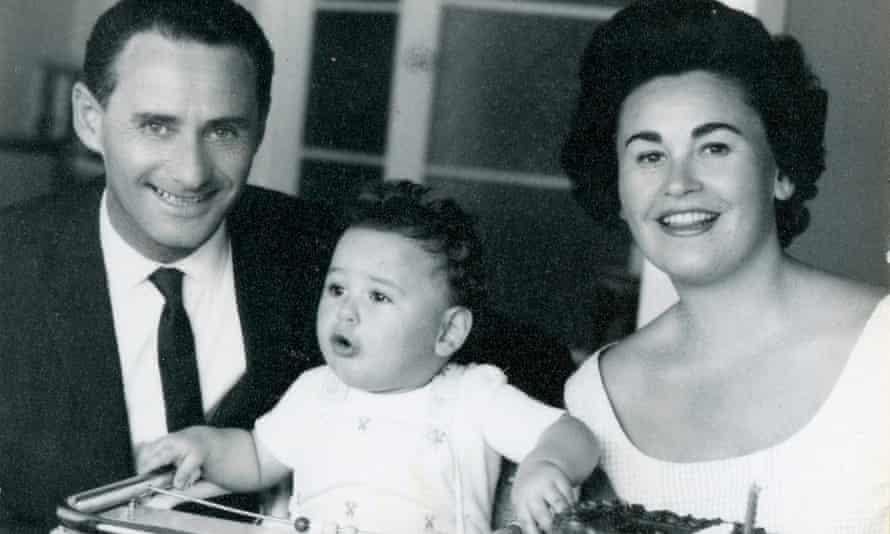 "Ludwig ""Lale"" Eisenberg (who changed his last name to Solokov) and Gita, born Gisela Fuhrmannova, with their son."