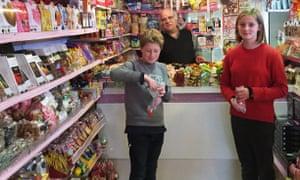 William and Rose in Edam's sweetshop