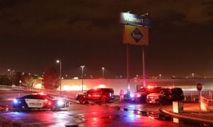 Shooting at shopping mall, El Paso, Texas, USA - 03 Aug 2019<br>Mandatory Credit: Photo by Xinhua/REX/Shutterstock (10353844a) Police cordon off Walmart shopping mall area in El Paso Shooting at shopping mall, El Paso, Texas, USA - 03 Aug 2019 A mass shooting on Saturday killed at least 20 and injured 26 others in the U.S. state of Texas, local officials said at a press conference.