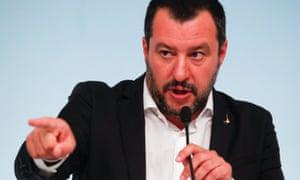 Italy's interior minister, Matteo Salvini