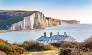 The Coast Guard Cottages and Seven Sisters cliffs