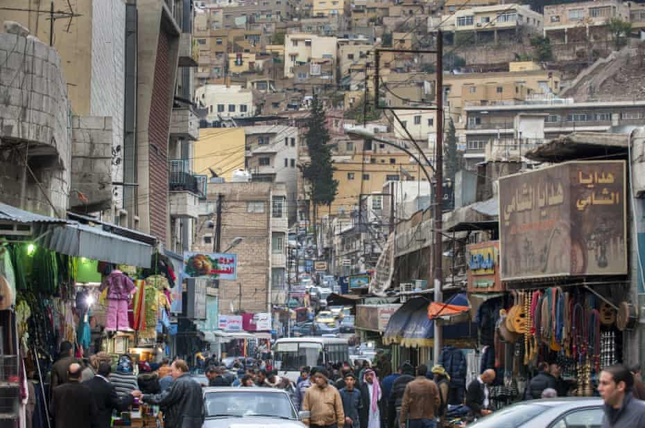 Bustling streets in central Amman