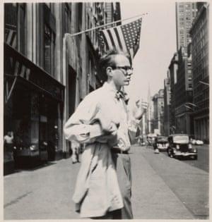 Andy Warhol in New York City, circa 1949