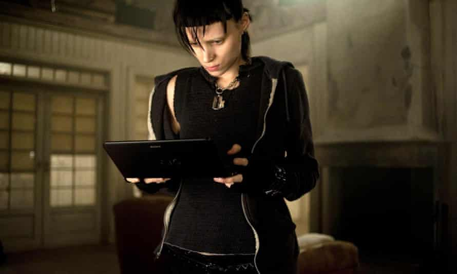 Rooney Mara as Lisbeth Salander in the 2011 film of The Girl With The Dragon Tattoo.