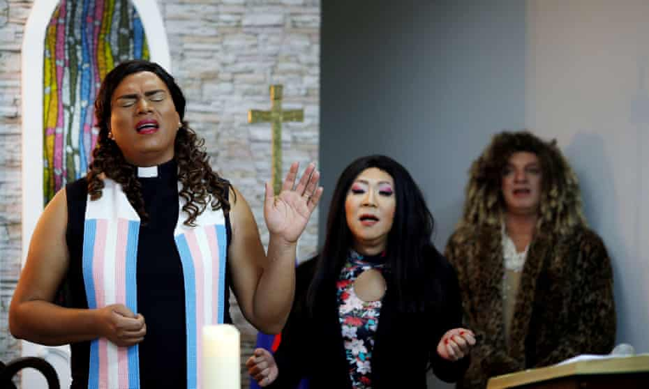 Alexya Salvador, Latin America's first transgender reverend, leads church mass in Sao Paulo, Brazil, August 2018