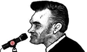 Illustration by David Foldvari of Morrissey in front of a Union Jack microphone