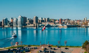 The harbour of the maritime city of Halifax, Nova Scotia.
