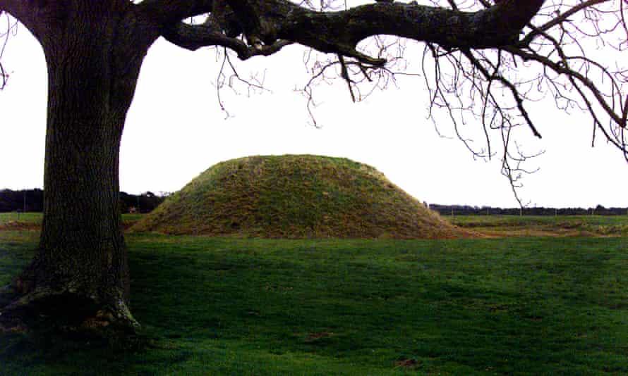 A burial mound at Sutton Hoo in Suffolk.