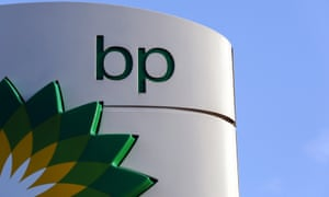 BP logo at a petrol station