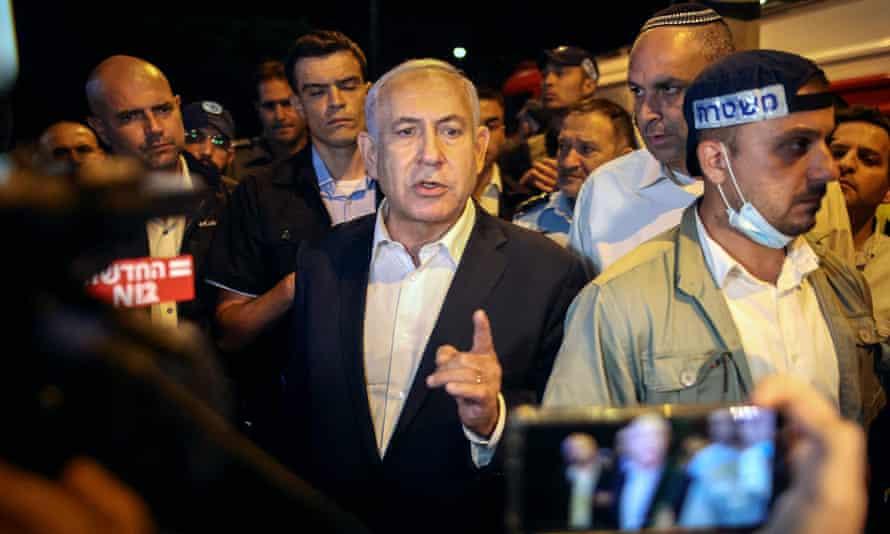 Benjamin Netanyahu tours the riot-hit city of Lod.
