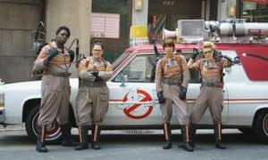 Boilersuit revamp … Leslie Jones, Melissa McCarthy, Kate McKinnon and Kristen Wiig in Ghostbusters.
