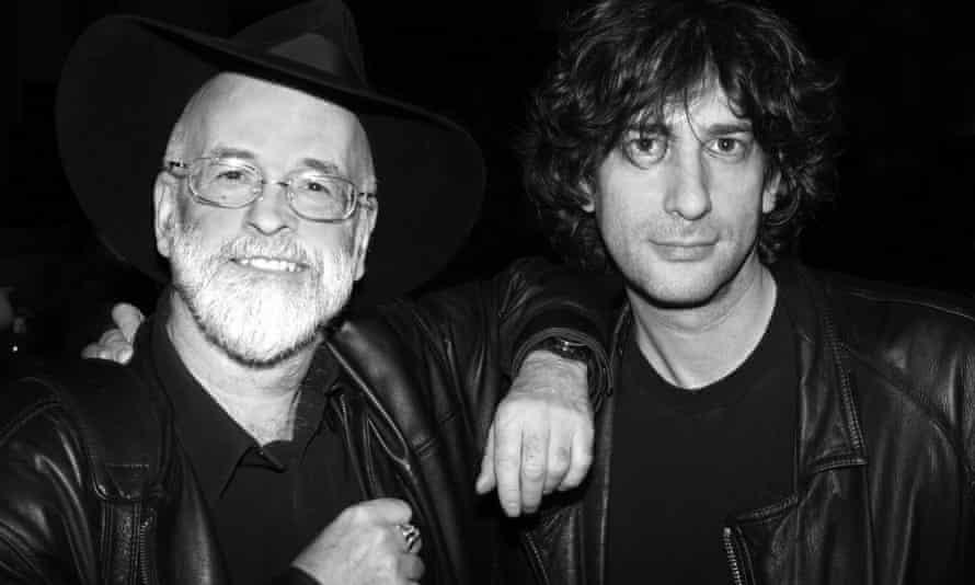 Gaiman with Terry Pratchett.