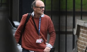Dominic Cummings arriving at Downing Street on Tuesday