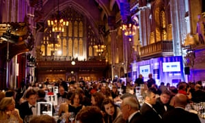 In the spotlight … guests at the Booker prize ceremony, at its traditional home of the Guildhall in London in 2012.