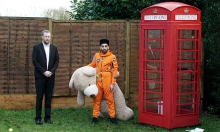 The tasks need to be stupid but not ludicrous ... Alex Horne and Mawaan Rizwan in Taskmaster.