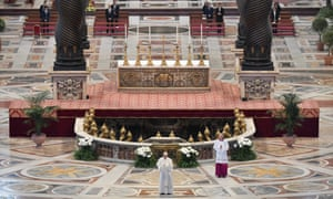 Pope Francis gives Easter address with no public