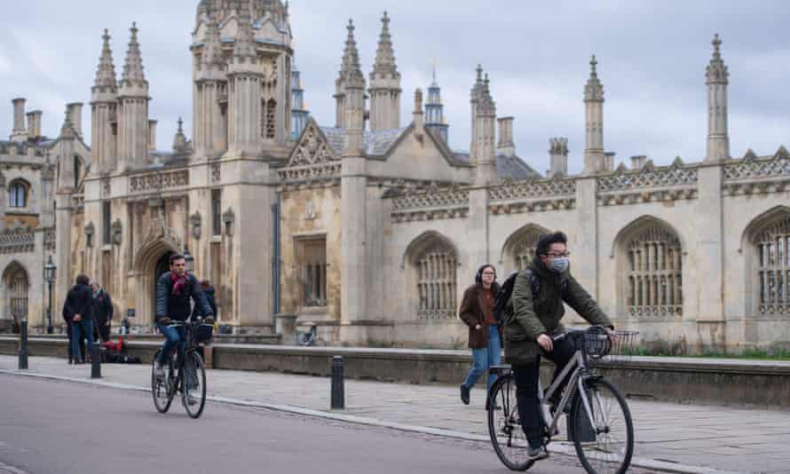 King's Parade, next to King's College Cambridge, is normally thronged with visitors from overseas at this time of year.