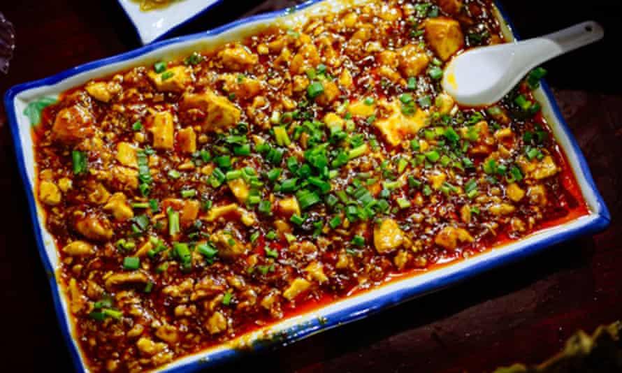 Dish at Ming Ting restaurant, Chendu, China