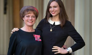 Janet Ellis with her daughter Sophie Ellis Bextor after receiving her MBE from the Duke of Cambridge at Buckingham Palace this month.