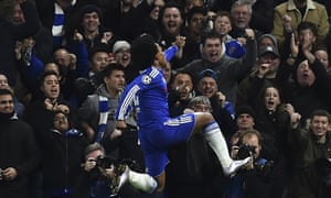 Smiles all round after Willian makes it 2-0.
