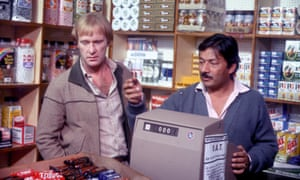 Jaffrey, right, with Dennis Waterman in an episode of Minder from 1979.