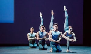 Thiago Soares and Marianela Nuñ–ez, front right, in After the Rain by Christopher Wheeldon.