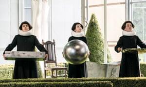 Dionysios Sevastakis, Freddie Jemison and Lucas Rebato as the Three Boys.