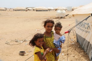 Children in a camp in Djibouti. As the misery continues for Yemen's people, Ban Ki-moon has urged the parties to the conflict to adhere to their obligations under international humanitarian law, protecting civilians and enabling humanitarian workers to deliver life-saving assistance