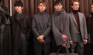 Knitwear softened the signature tailoring at Boss.