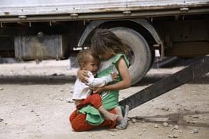 Two Iraqi children