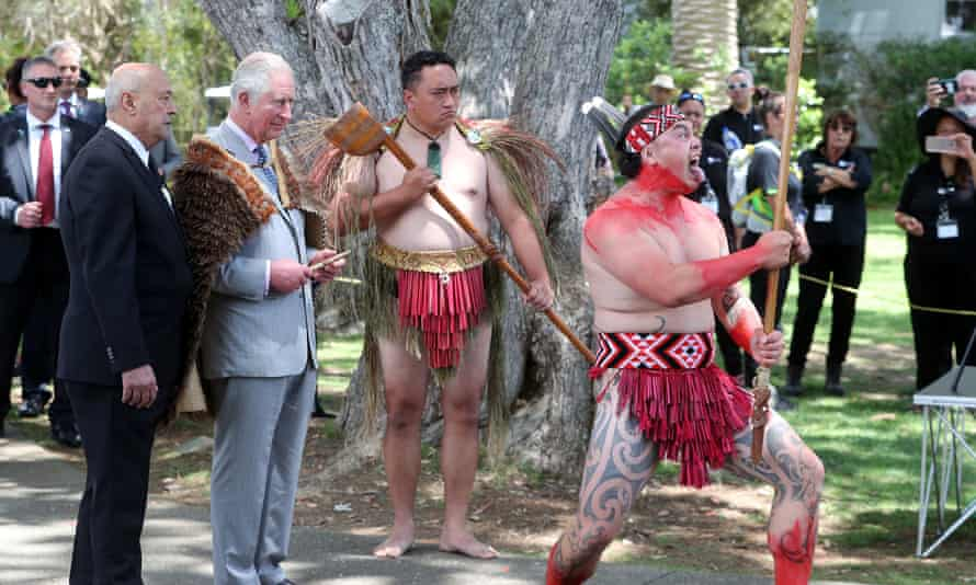 Royal visit to New Zealand - Day FourThe Prince of Wales wearing a Maori cloak whilst watching a powhiri, a Maori welcoming ceremony, during their visit to Waitangi Treaty Grounds, the Bay of Islands, on the fourth day of the royal visit to New Zealand. PA Photo. Picture date: Wednesday November 20, 2019. See PA story ROYAL Charles. Photo credit should read: Chris Jackson/PA Wire