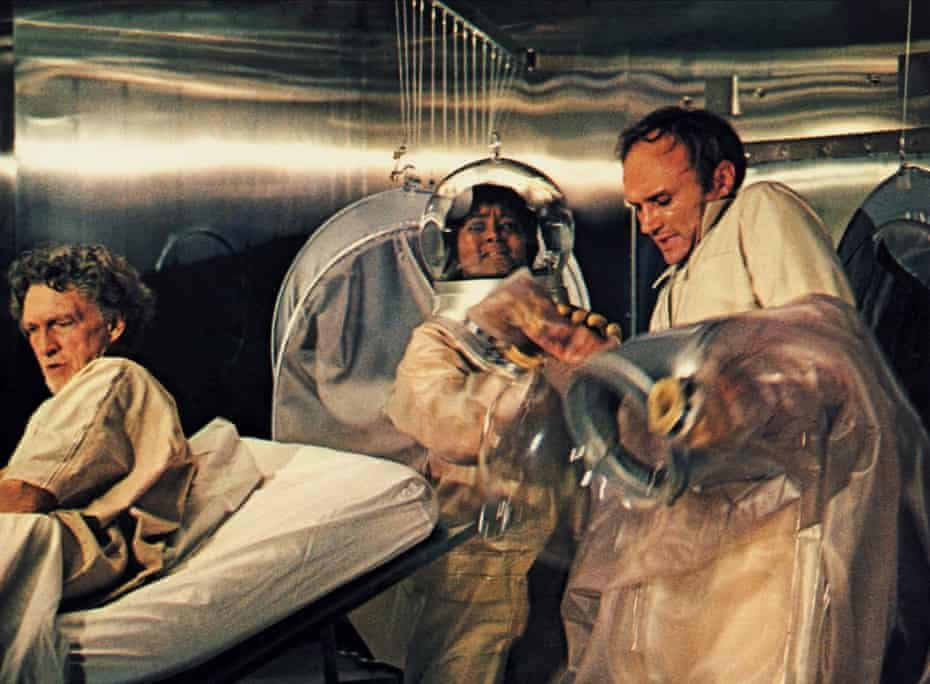 George Mitchell, Paula Kelly and James Olsen in 1971's The Andromeda Strain