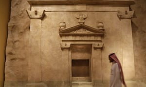 A man walks at Riyadh National Museum. Tourism is one avenue Salman is hoping to explore.