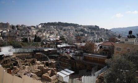 A general view of Silwan in East Jerusalem