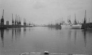 Royal Docks, London, during the docks strike of 1970.