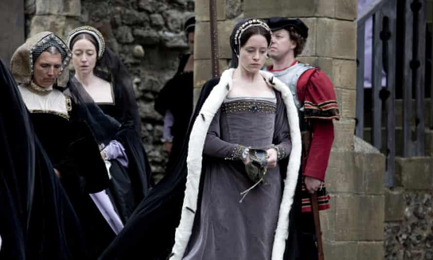 Claire Foy as Anne Boleyn in Wolf Hall.