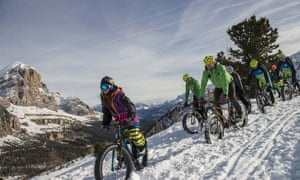 Fat bike in the Dolomites