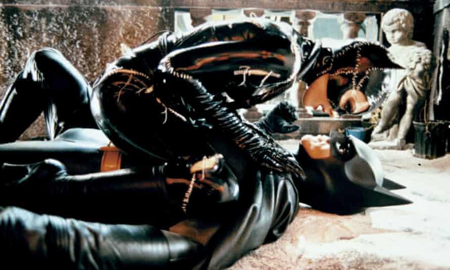 Whip-smart … Michelle Pfeiffer and Michael Keaton in Batman Returns.