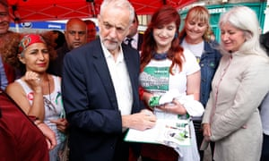 Jeremy Corbyn signs a petition for the saving of building on Leith Walk