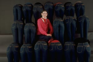 Vanderbilt advertising her designer jeans in 1978.