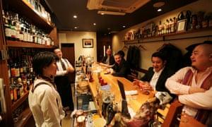 A cocktail bar in Tokyo