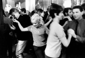 Czech students dancing in a jazz club in Prague.