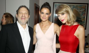 With Harvey Weinstein at The Giver premiere.