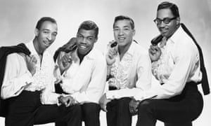 Warren Moore, second from left, with the Miracles in the 1960s.