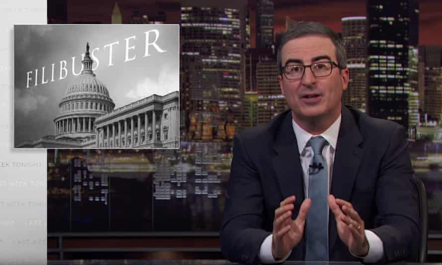 John Oliver: 'We've reached a point where senators don't so much brag about what they've passed as brag about what they are going to obstruct.'
