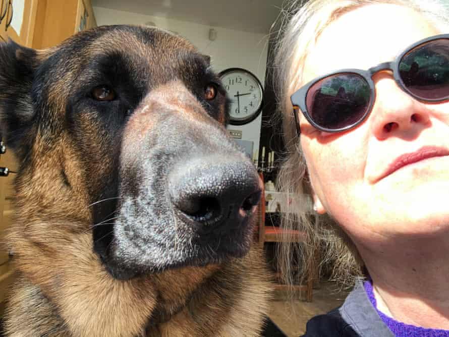 Kate Katafiasz and her dog Django.