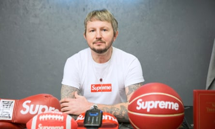 Wilson with Supreme products